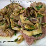 Scaloppine con carciofi