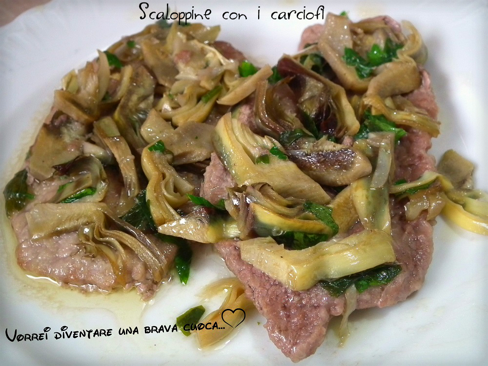 Scaloppine con i carciofi