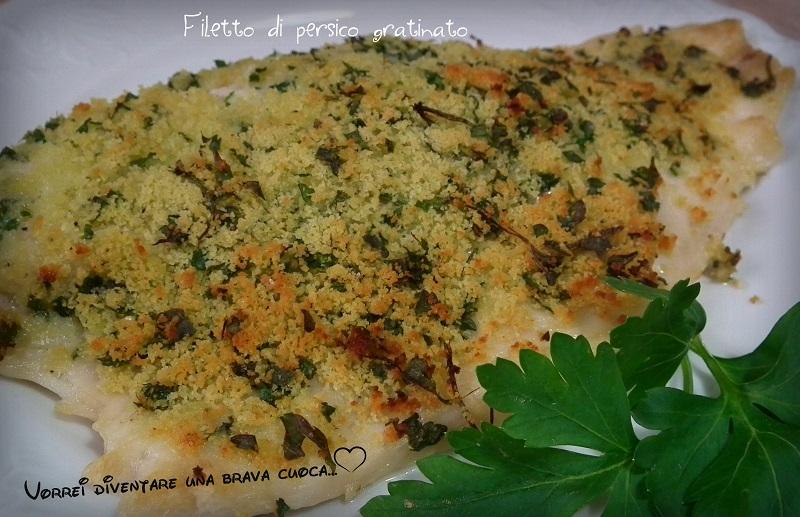 filetto di persico gratinato