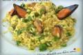 Risotto con asparagi, cozze e zafferano