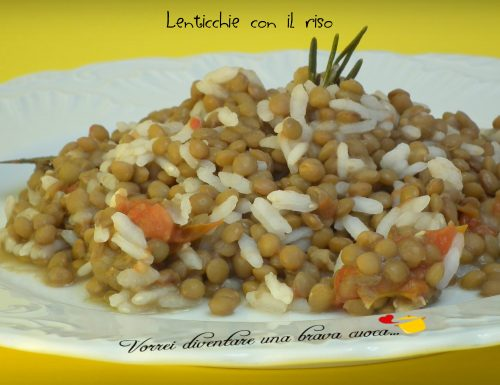 Lenticchie con il riso