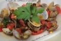 Vongole allo zafferano e pomodorini