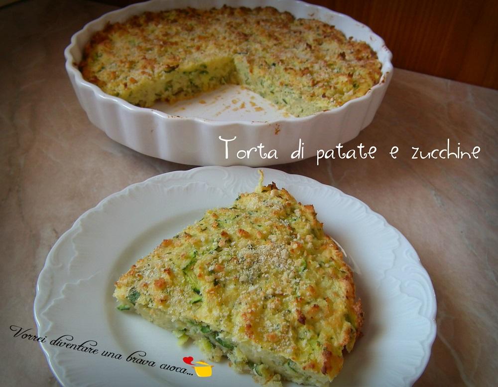 Torta di patate e zucchine2
