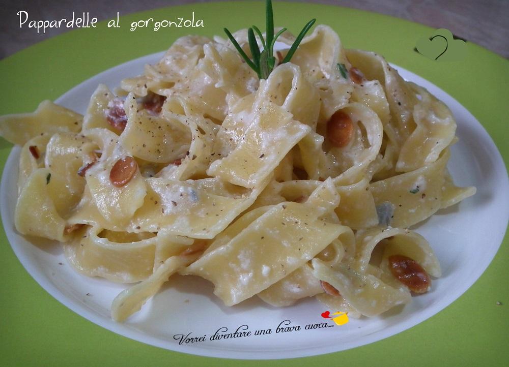 Pappardelle al gorgonzola
