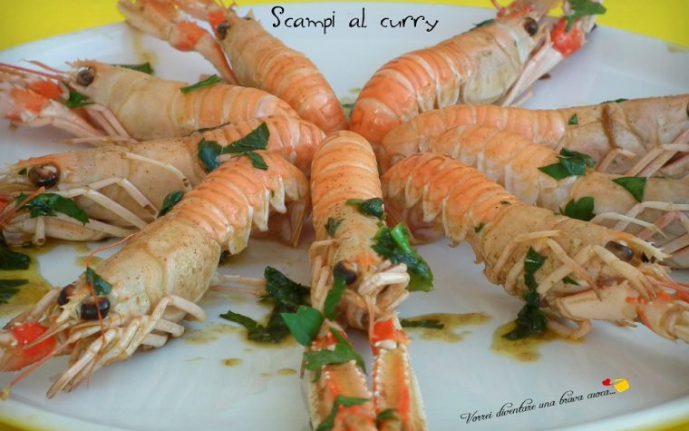 Scampi al curry