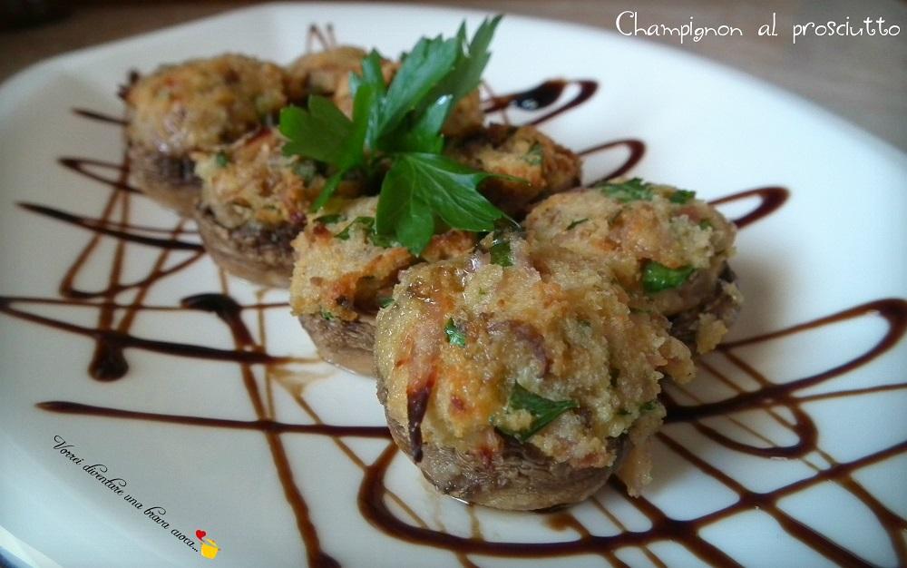 champignon al prosciutto