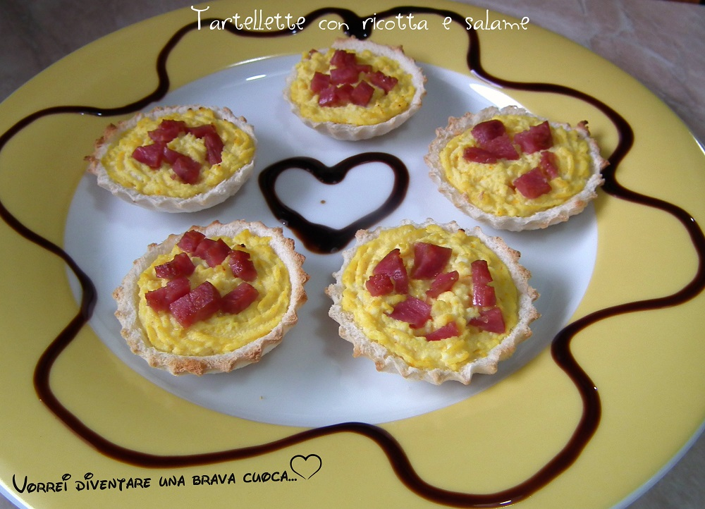 Tartellette con ricotta e salame (1)