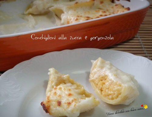 Conchiglioni alla zucca e gorgonzola