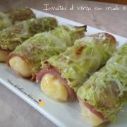 Involtini di verza con crudo e patate