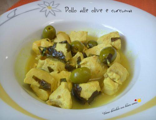 Pollo alle olive e curcuma