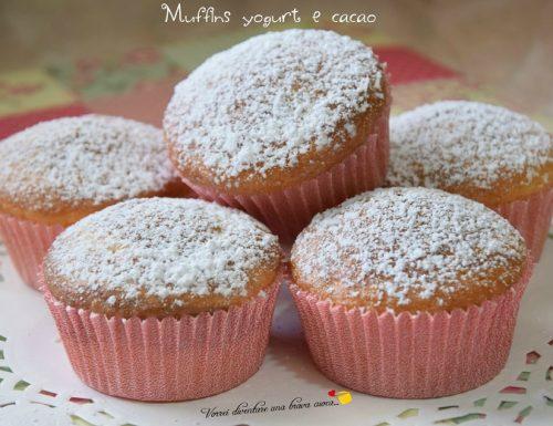 Muffins yogurt e cacao