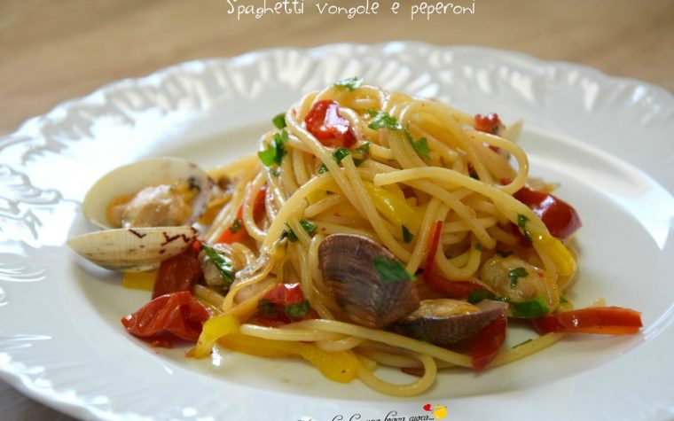 Spaghetti vongole e peperoni