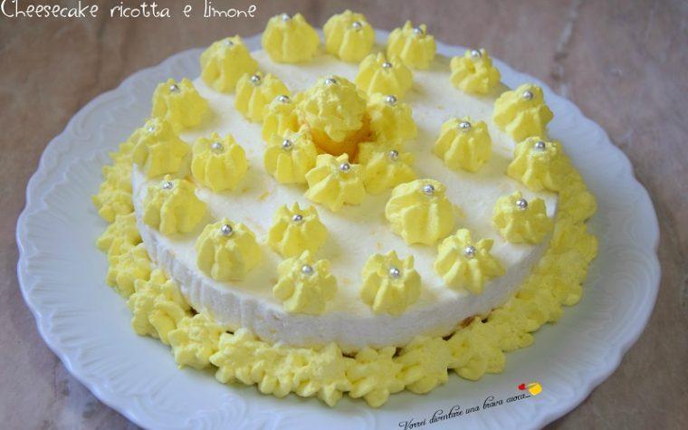 Cheesecake ricotta e limone