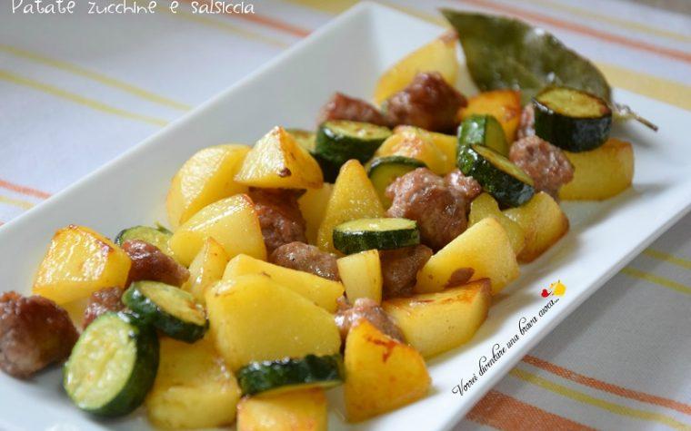 Patate zucchine e salsiccia