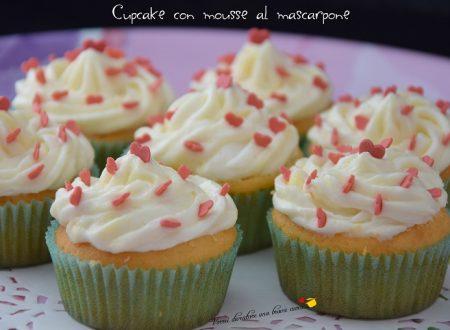 Cupcake con mousse al mascarpone