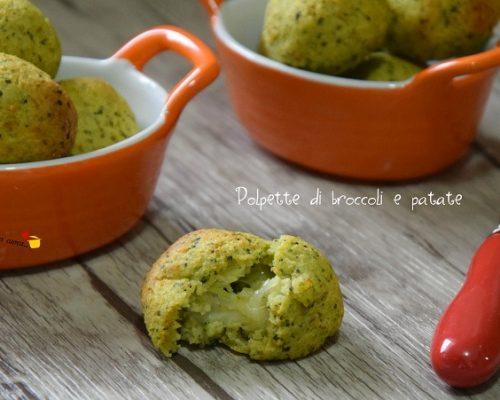 Polpette di broccoli e patate al forno