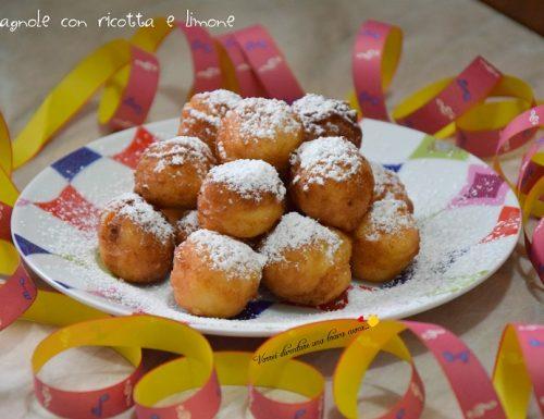 Castagnole con ricotta e limone
