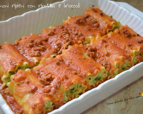 Lasagnoni ripieni con ricotta e broccoli