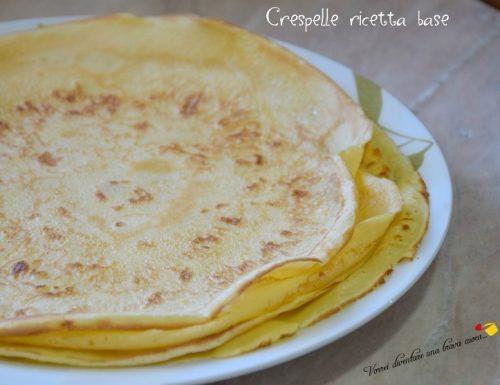 Crespelle ricetta base