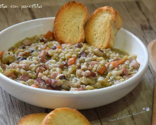 Zuppa mista con pancetta
