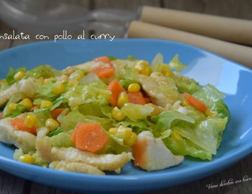 Insalata con pollo al curry