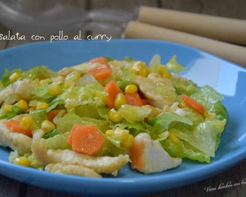 Insalata con pollo al curry