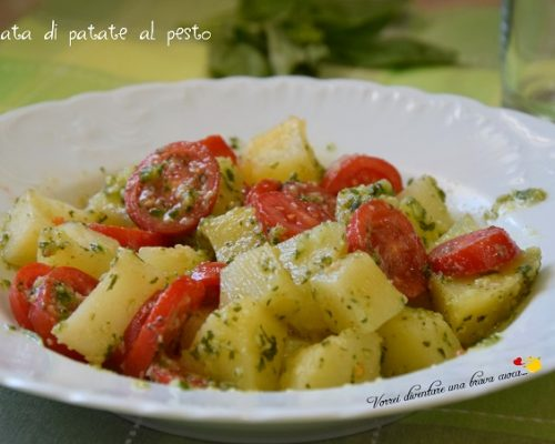 Insalata di patate al pesto