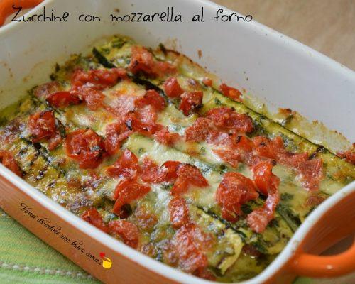 Zucchine con mozzarella al forno