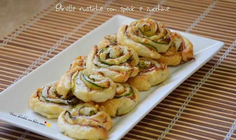 Girelle rustiche con speck e zucchine
