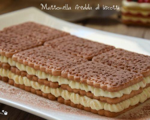 Mattonella fredda di biscotti