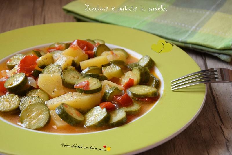 Ricetta Patate E Zucchine In Padella.Zucchine E Patate In Padella Vorrei Diventare Una Brava Cuoca