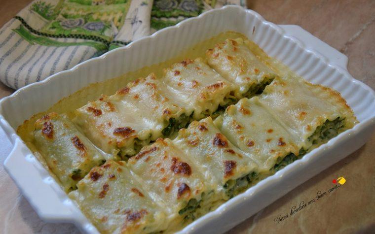 Lasagnoni con ricotta spinaci e cotto