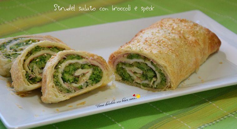Strudel salato con broccoli e speck