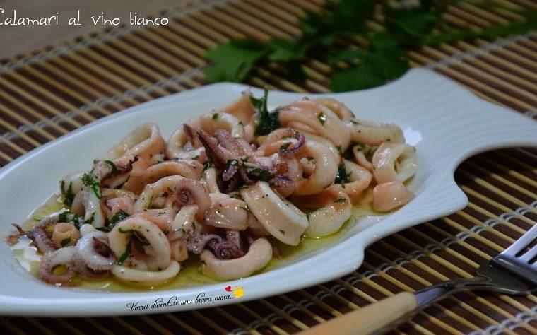 Calamari al vino bianco