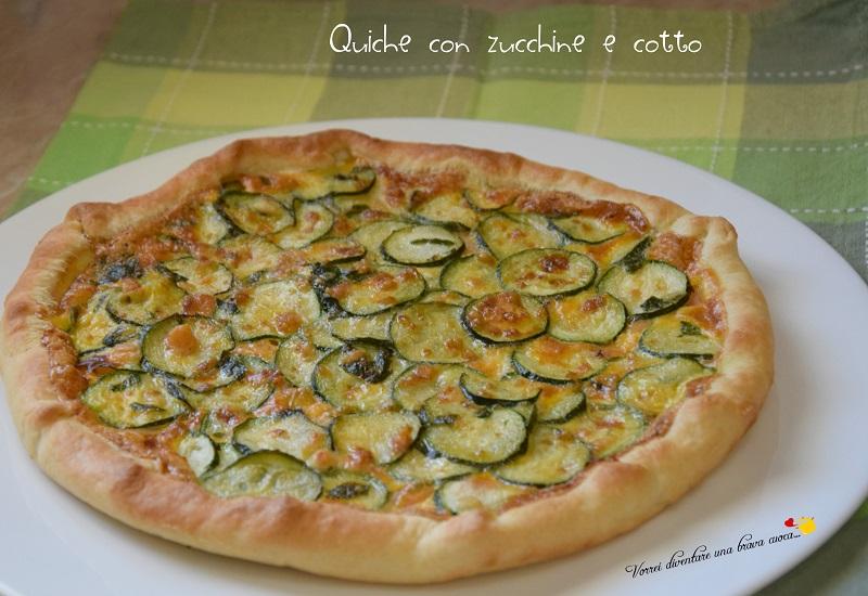 Quiche con zucchine e cotto