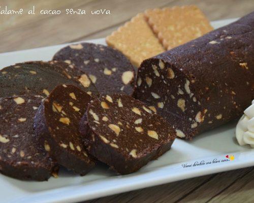 Salame al cacao senza uova
