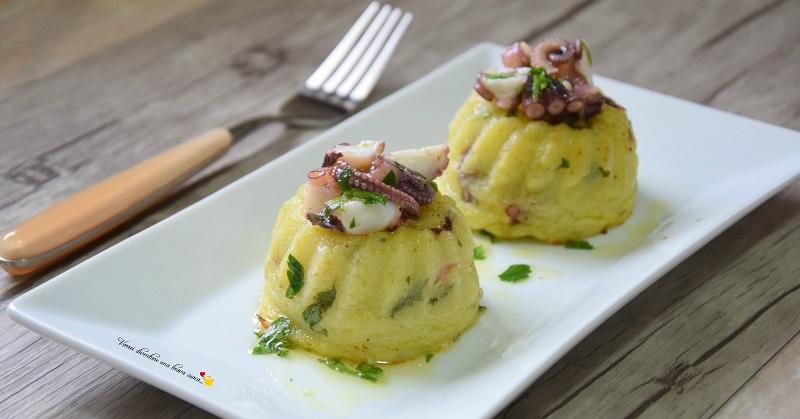 tortini di patate e polpo