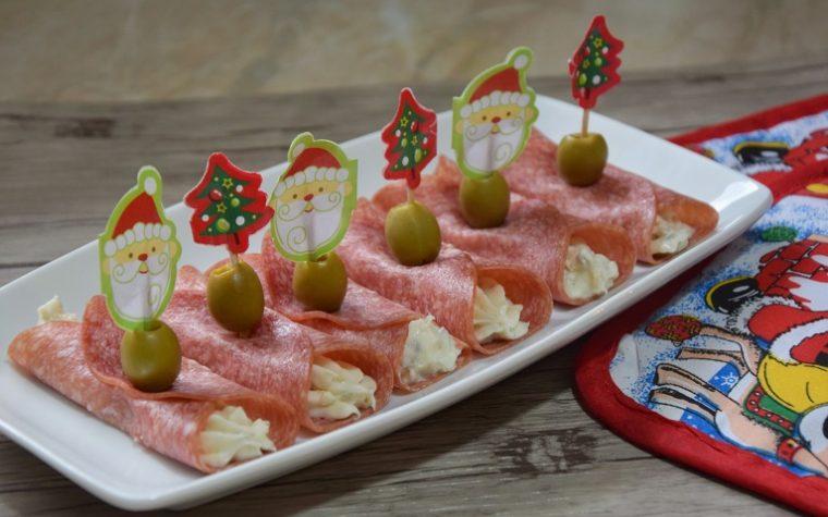 Involtini di salame con gorgonzola