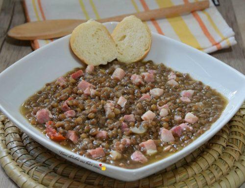 Lenticchie con pancetta