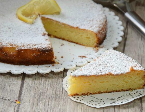 Torta con ricotta e limone