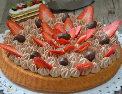 Crostata morbida con mousse al mascarpone e fragole