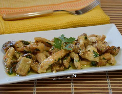 Petto di pollo con funghi porcini