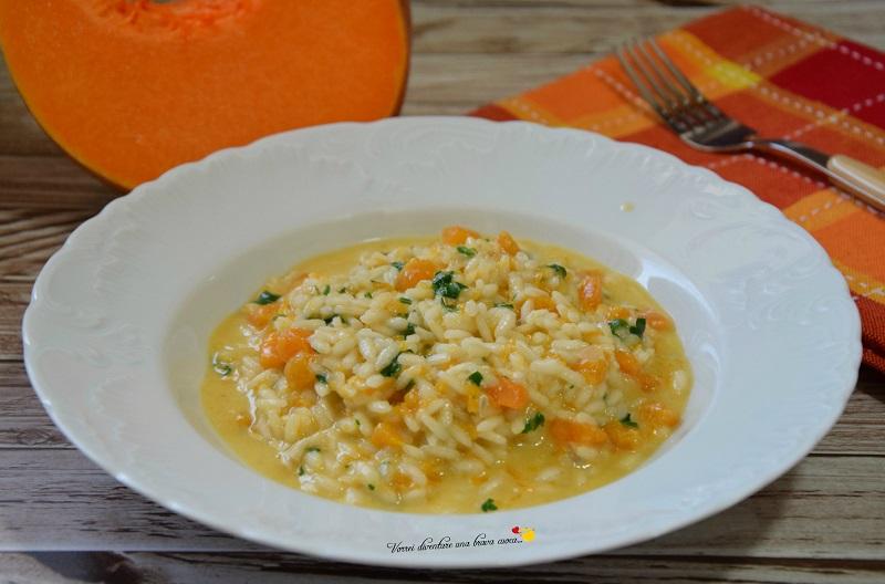 risotto con zucca e gorgonzola