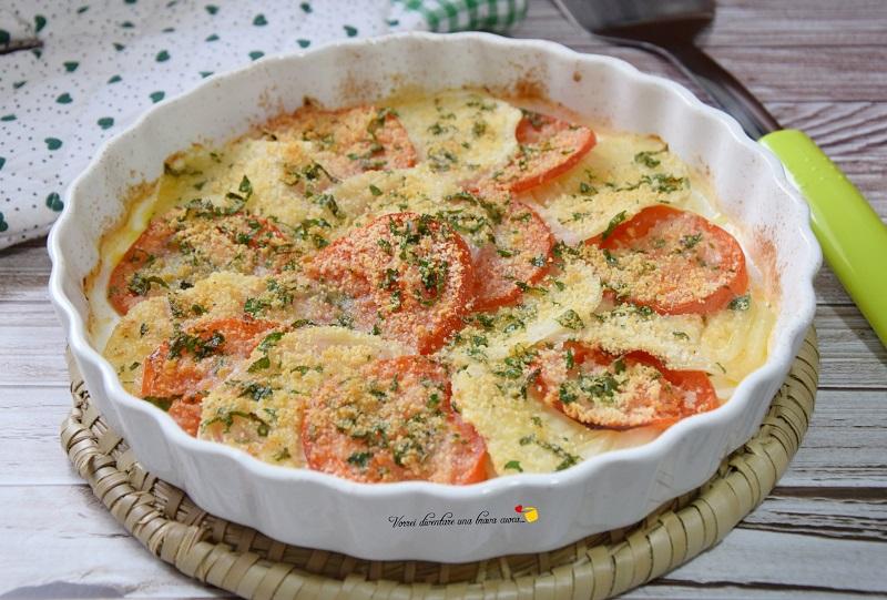 finocchi e pomodori gratinati
