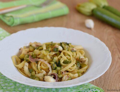 Linguine con seppie e zucchine