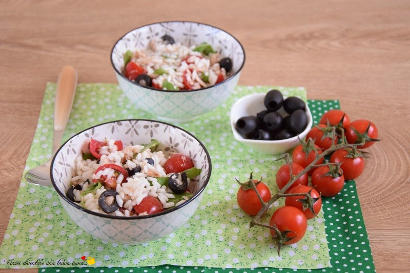 riso freddo con tonno rucola e pomodorini