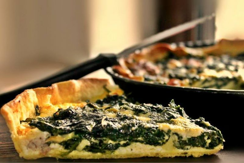 Torta ricotta,spinaci e salsiccia