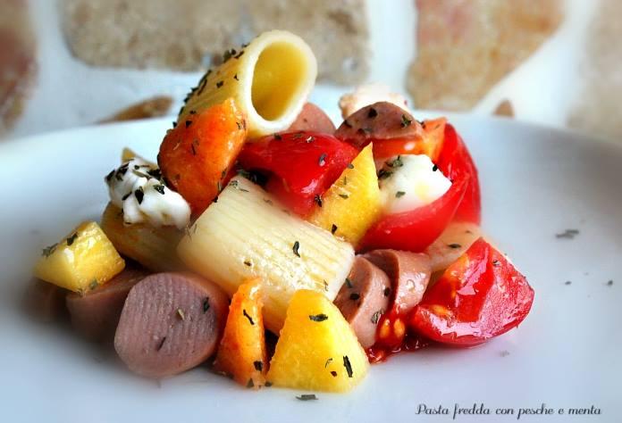 Pasta fredda con pesche e menta la cucina del cuore - La cucina del cuore ...