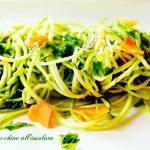 Spaghetti di zucchine all'insalata