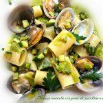 Mezze maniche con pesto di zucchine e vongole